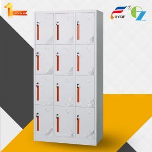 China Popular design colorful handle 12 door steel locker with ventilation on sale