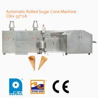 China Commercial Egg Roll Production Line / Custom Sugar Cone Baking Machine 110mm Cone Length on sale