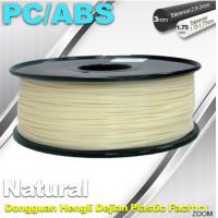 China Natural Color 1.75mm PC / ABS 3D Printer Filament 1.3kg / Spool on sale