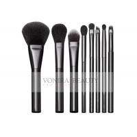 Classic Black Basic 8Pcs Full Makeup Brush Set Goat Hair And Resilient Ultra Fine Synthetic Hair Manufactures