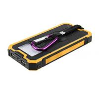 Buy cheap Hot selling outdoor portable charging power bank with  torch and solar panel recharging from wholesalers