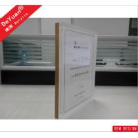 Clear Acrylic Sign Display Holder / Handmake A4 Acrylic Intivation Display Manufactures