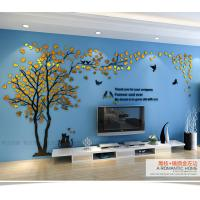 Custom  loving heart tree shaped home decorative acrylic wall stickers 3D Manufactures