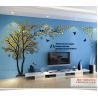 Buy cheap Custom loving heart tree shaped home decorative acrylic wall stickers 3D from wholesalers
