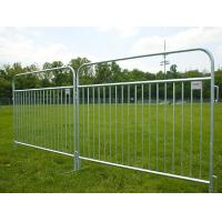 Pedestrian Barricade Temporary Fencing Barrier , Galvanized Steel Welded Wire Fence Manufactures