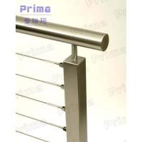 Mirror finish stainless steel rod stair railing for public area Manufactures