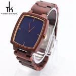 Handmade Unisex Wooden Wrist Watch Nature Wood Blue Color Dial Quartz Manufactures
