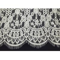 China Double Scalloped Eyelash Antique Lace Trim With 60 Width Elizabethan Revival Style on sale