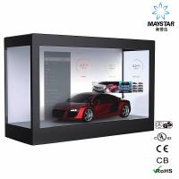 China Floor Standing Transparent LCD Touch Screen , Lg Transparent LCD Display on sale