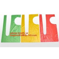 Plastic Disposable Aprons For Cooking, Individually Packaged Durable 1 mil