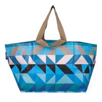 Handled Blue Polypropylene Tote Bags For Shopping And Promotion Silk Screen Manufactures