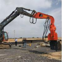 China BEIYI China wuxi hydraulic pile driver/ steel pile clamp hydraulic high frequency vibro hammer on sale