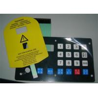3M Adhesive Waterproof Membrane Switch Push Button Panel , Corrosion Resistance Manufactures