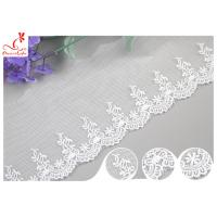 Sri Lanka Embroidery Floral Nylon Lace Trim With Cotton Material Customized Manufactures