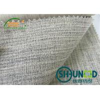 handfeeling horse hair interlining for men's suit  with natural color Manufactures
