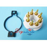 China 8 Pin Octal Ceramic Tube Sockets Gold Plated Brass Pins For KT88 EL34 GZ34 on sale