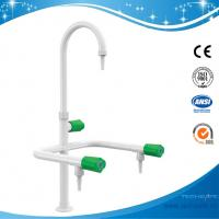 SHA1-5-Three Way/Triple outlet Lab Tap/Faucet,brass,360°swing,White/lever handle optional Manufactures