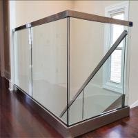 Quality Stainless steel handrail aluminium U channel glass railing for balcony for sale
