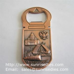 China 3D designed metal beer bottle openers, personalised 3D metal bottle openers on sale