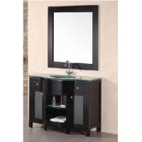 35 Single Glass Top Wooden Bathroom Vanity Cabinet Espresso Color  (58191) Manufactures