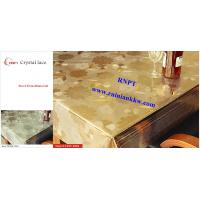 PVC Table Cloth --RNPT Crystal lace table cloth ---TC255-T003 gold table cloth Manufactures