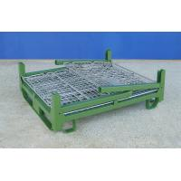 Half Drop Gate Wire Container Storage Cages Four Way Entry Easy To Operate Manufactures