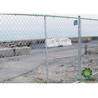 Metal Wire Fence Panels / Galvanized Fence Panels Protect Construction Site Manufactures