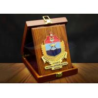 China Square Custom Trophy Awards Wood Gift Box Package As Company Decorations on sale