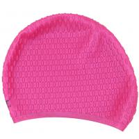 Rose Red Swimming Cap , Personalized Swim Cap That Keeps Hair Completely Dry Manufactures