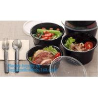 China Take-away food package 3000ml large plastic salad bowls,PP white 700ml disposable plastic sea food bowl with handle pac on sale