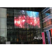 Quality Flexible Glass Advertising Led Display Screen , Outdoor Transparent Led Display for sale