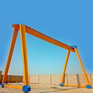 workshop gantry lifting equipment travelling single girder mobile container gantry crane portal gantry crane