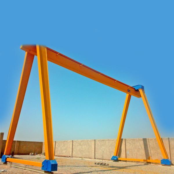 Quality workshop gantry lifting equipment travelling single girder mobile container gantry crane portal gantry crane for sale