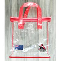 China Zippered Clear PVC Storage handbags Portable Transparent Shopping Bag With Handles on sale