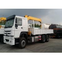12T Truck Mounted Crane 6x4 Driving Type EURO II Emission Standard Manufactures