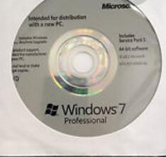Bootable USB Windows 7 License Key Professional 32 Bit w/SP1 English Media Manufactures