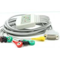 China 10-Leads EKG Cable with Leadwires AHA/IEC Snap Type compatible for Nihon/Biocare/Dongjiang ECG Machine on sale
