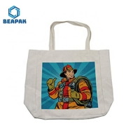 China Recycled Cotton Tote Printed Logo Foldable Canvas Bag on sale