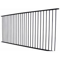 Metal Wrought Iron Zinc Steel Fence Panels 2100 X 2400MM 60*60*1.5 mm Manufactures