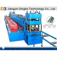Steel Frame Guardrail Roll Forming Machine With 37kw Motor And Automatical Cutting Devices Manufactures