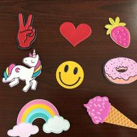 Self Adhesive Colourful Leather Bag Stickers , Custom Embossed Leather Patches Manufactures