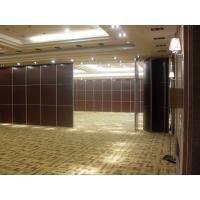 Sliding Room Dividers For Banquet Hall with Acoustic Leather Soft Cover Surface Manufactures