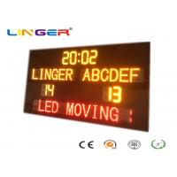 Buy cheap New Design Standard Electronic Soccer Scoreboard with Led Team Name and Moving Sign from wholesalers