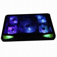 Notebook cooling pad with five colorful LED lights