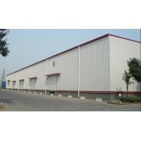 China Wind Loads Prefab Steel Structures Hot Dip Galvanized / Painted Custom Color on sale