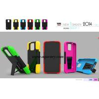 China Top quality PC+silicone T kickstand mobile phone case, protect your phone very well on sale