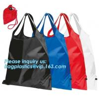 Designs Easy carry small foldable pocket tote polyester reusable folding shopping bag,full print 210d polyester foldable Manufactures