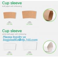 Biodegradable cup sleeve, Corrugated up sleeve with printing, brand logo, hot