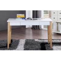 Long Light Colored Office Modern Wood Table Desk With File Drawer Manufactures