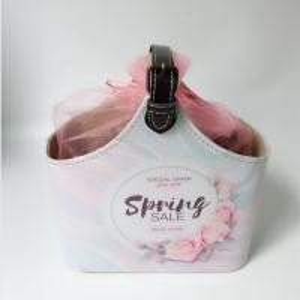 China PU Leather Bath Spa Storage Basket Spa Gift Baskets for Bathroom Hotel Adult Body Nature Bath Body Works on sale